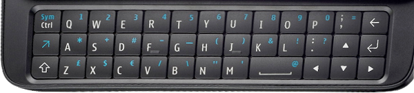 Photo of N900 keyboard