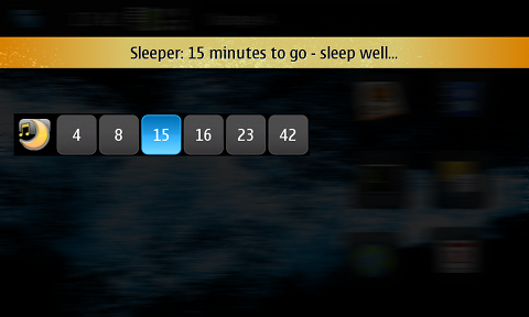 Screenshot of Sleeper widget on desktop