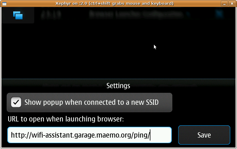 Screenshot of Wifi Assistant daemon settings