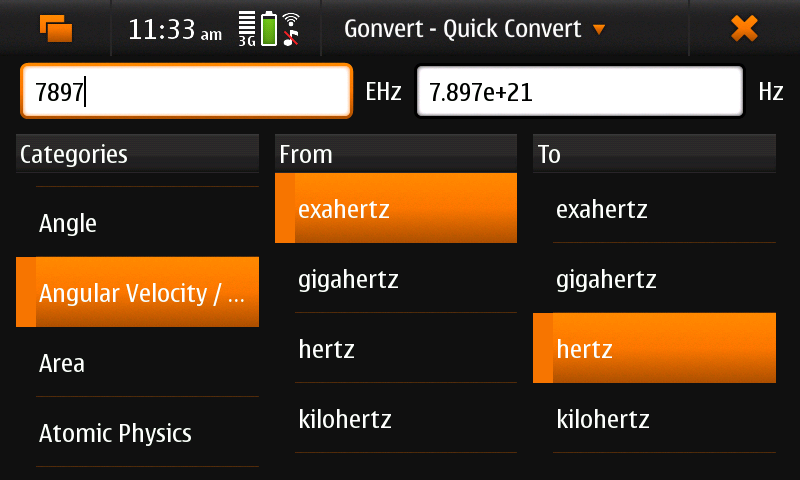 Screenshot of Gonvert showing 'Quick convert' view