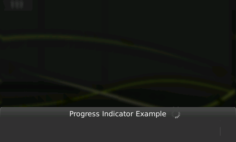 Screenshot of progress indicatior