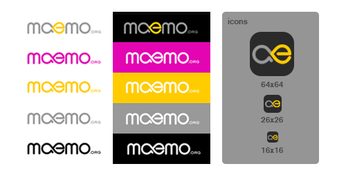 Variants of maemo.org logo