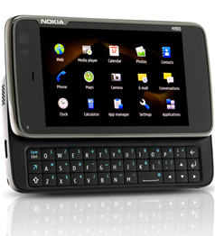Photo of N900 with extended hardware keyboard