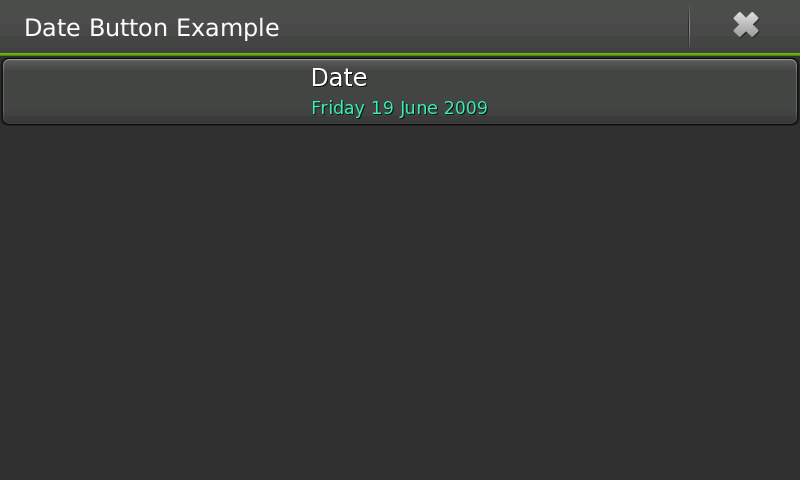 Screenshot of date button