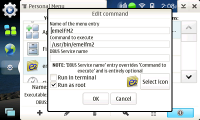 Run emelFM2 as root