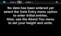 Screenshot of maeFat Initial Screen