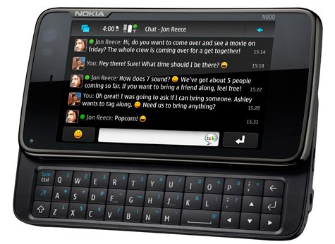 Photo of N900 with open keyboard