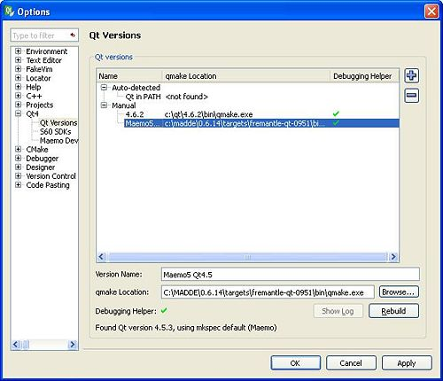 MADDE/QtCreator integration for windows - maemo org wiki